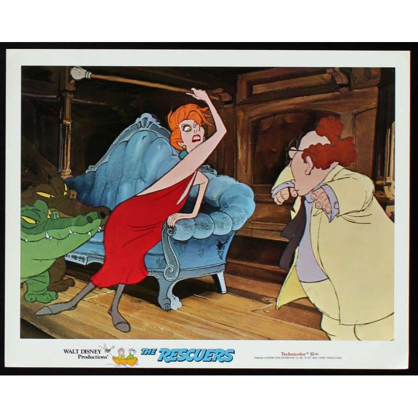 RESCUERS US Lobby Card N4 11x14 - 1977 - Walt Disney, Eva Gabor