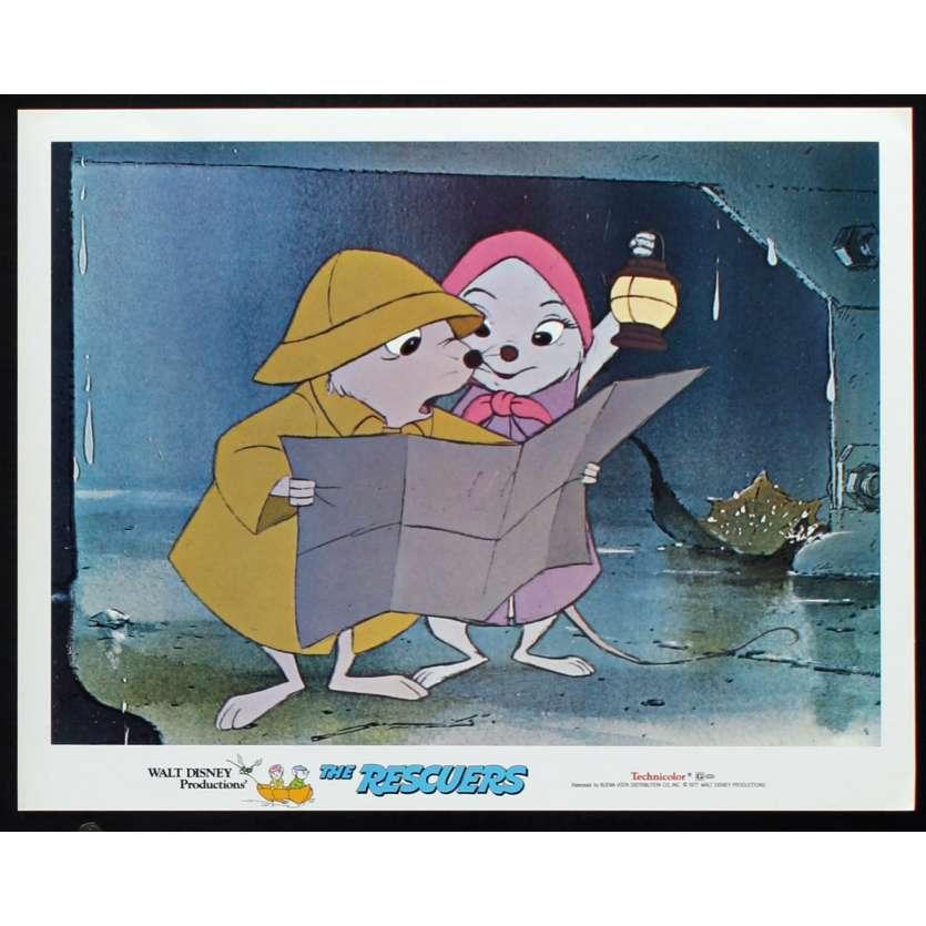 RESCUERS US Lobby Card N7 11x14 - 1977 - Walt Disney, Eva Gabor