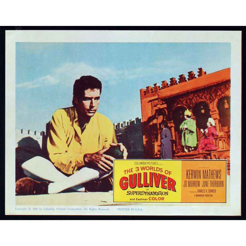 LES VOYAGES DE GULLIVER Photo de film N8 28x36 - 1960 - Kerwin Mathews, Ray Harryhausen
