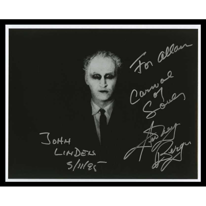 CARNIVAL OF SOULS US Signed Still 8x10 - 1995 - Herk Harvey, Sidney Berger