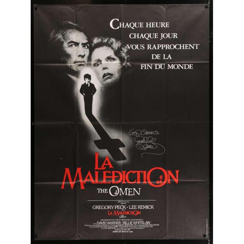 DAMIEN LA MALEDICTION Affiche signée par Richard Donner - 120x160 - 1976