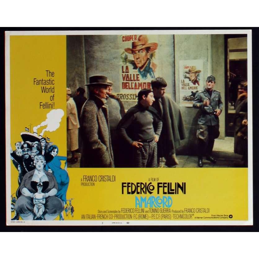AMARCORD US Lobby Card N7 11x14 - 1974 - Federico Fellini, Magali Noel
