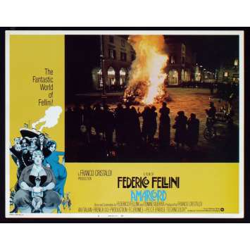 AMARCORD US Lobby Card N4 11x14 - 1974 - Federico Fellini, Magali Noel