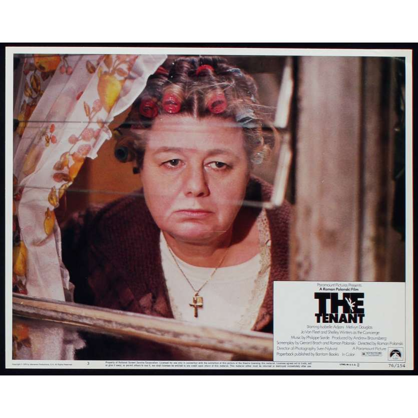 THE TENANT US Lobby Card N6 11x14 - 1976 - Roman Polanski, Isabelle Ajjani