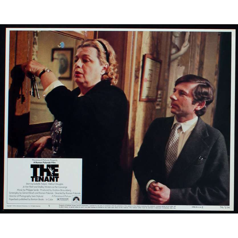 LE LOCATAIRE Photo de film N1 28x36 - 1976 - Isabelle Ajjani, Roman Polanski
