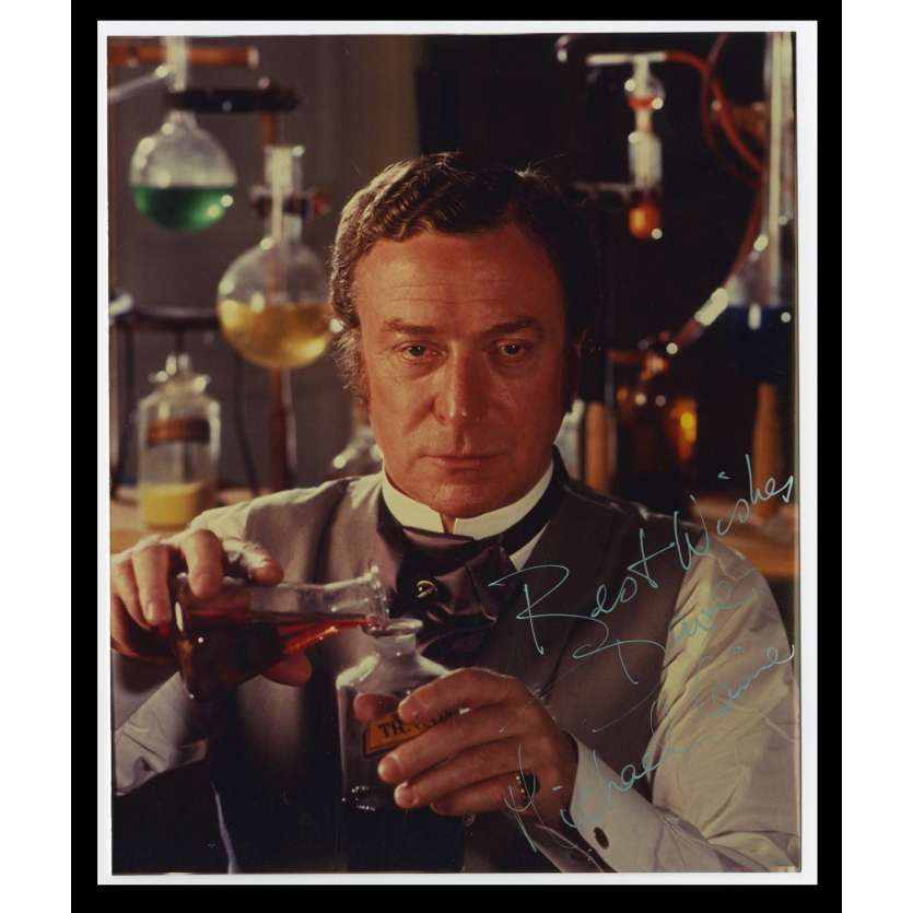 WITHOUT A CLUE US Signed Still 8x10 - 1980 - Thom Eberhardt, Michael Caine
