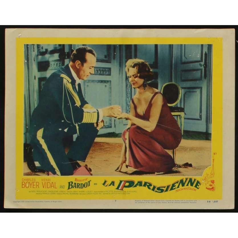 LA PARISIENNE US Lobby Card NI 11x14 - 1958 - Michel Boisrond, Brigitte Bardot