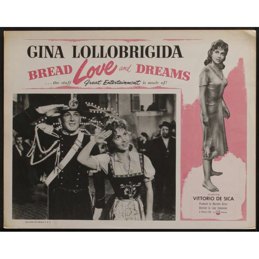 PAIN AMOUR ET FANTASIE Photo de film N1 28x36 - 1954 - Ginal Lollobrigida, Vittorio de Sica