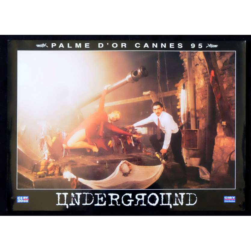 UNDERGROUND French Prestige Lobby Card N3 12x16 - 1995 - Emir Kusturica, Predrag Manojlovic