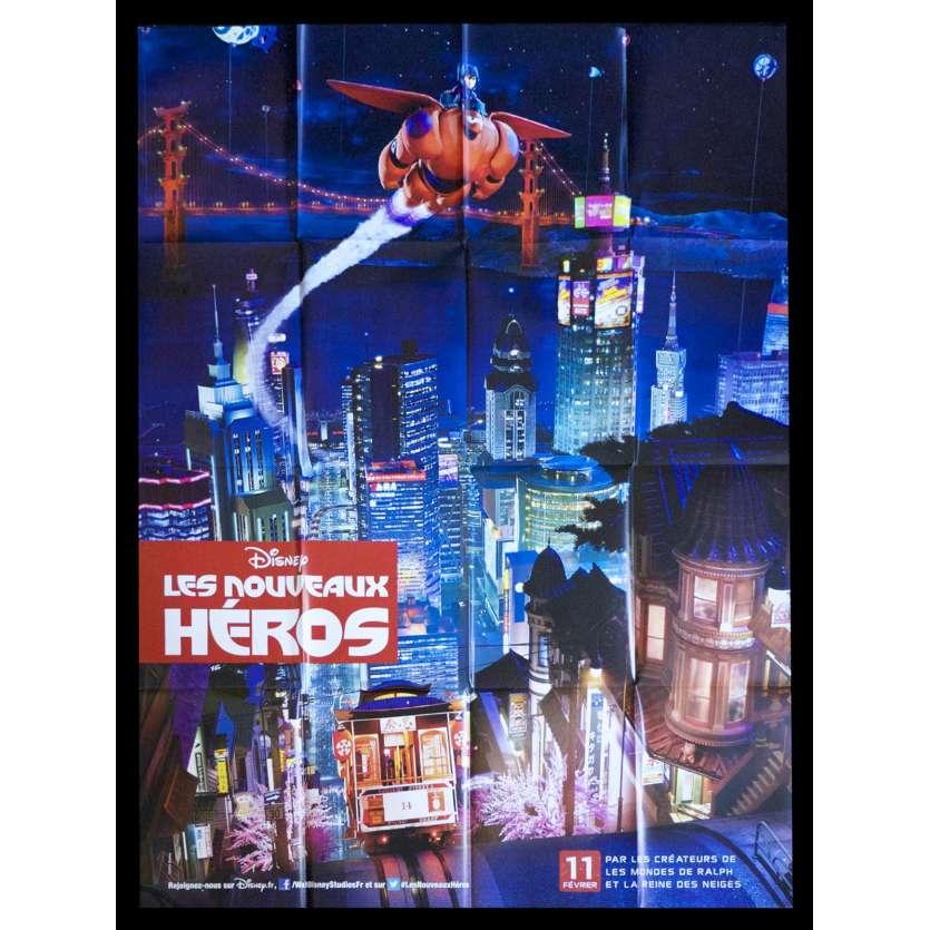 BIG HERO 6 Adv. B French Movie Poster 47x63 - 2015 - Pixar, Ryan Potter