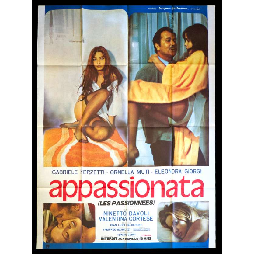 PASSIONATE French Movie Poster 47x63 - 1974 - Gian Luigi Calderone, Ornella Mutti