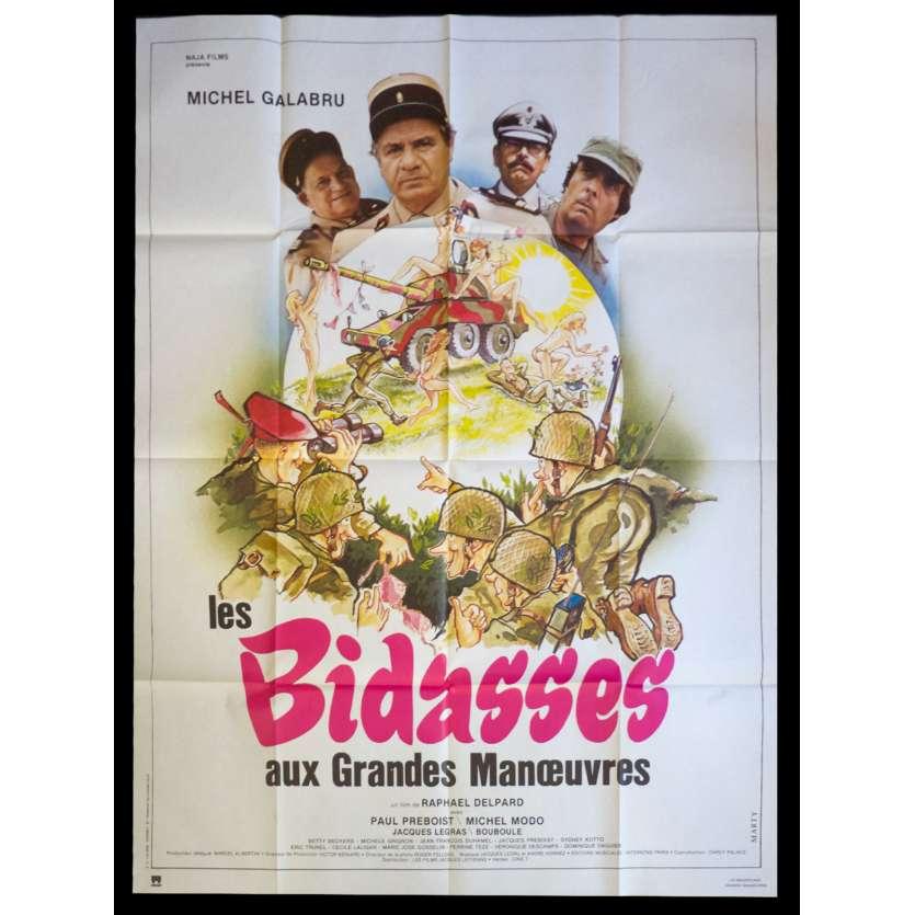 LES BIDASSES AUX GRANDES MANŒUVRES Affiche de film 120x160 - 1981 - Michel Galabru, Paul Preboist, Raphael Delpard