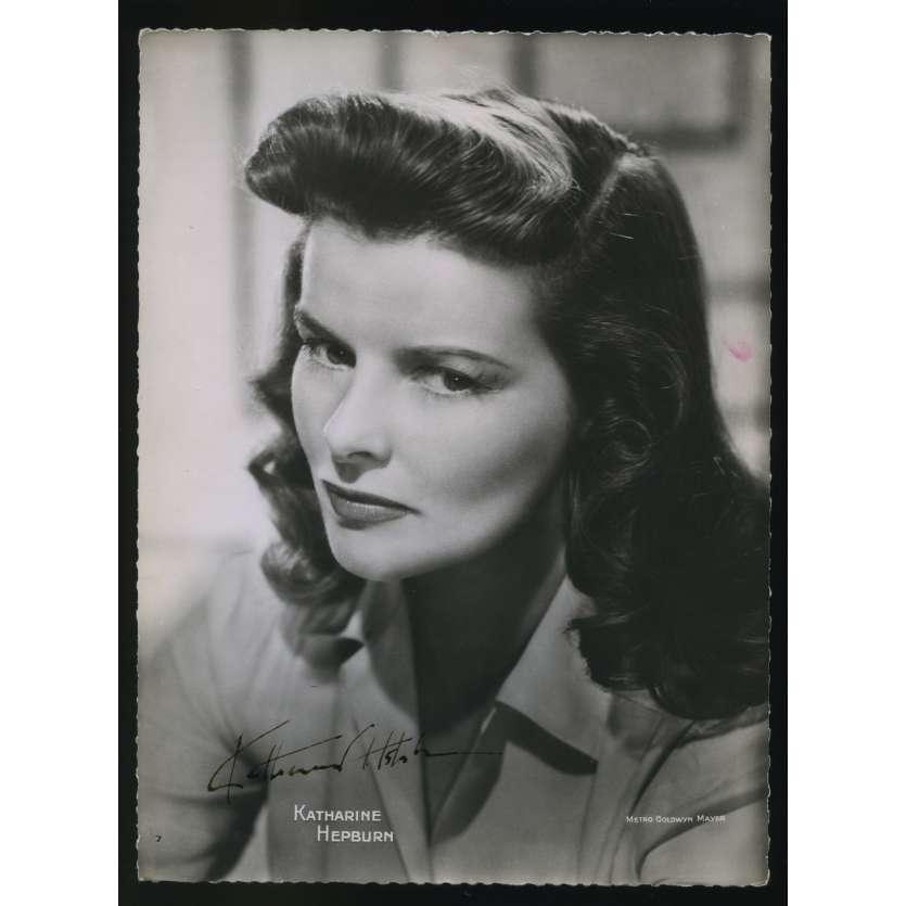 KATHARINE HEPBURN Photo Signée 16,5x22,5 - 1950's