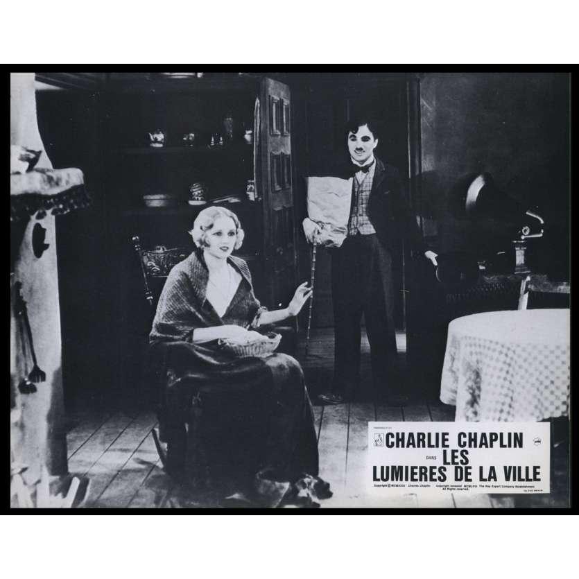 CITY LIGHTS French Lobby Card N14 9x12 - R1980 - Charlie Chaplin, Virginia Cherill