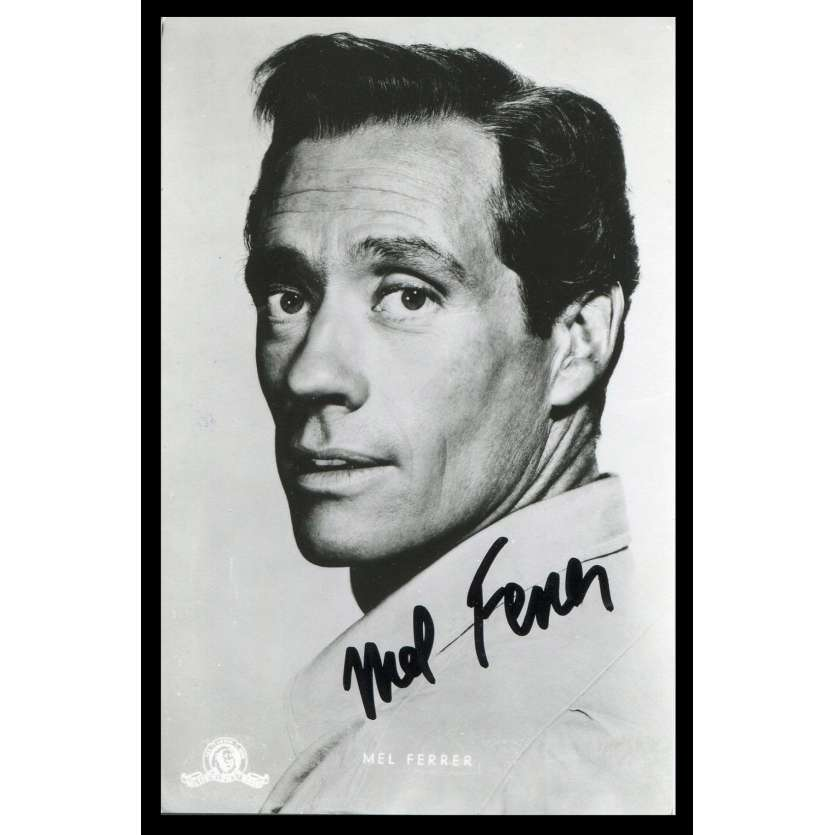 MEL FERRER Signed Photo 2,5x5,5 - 1980's - ,