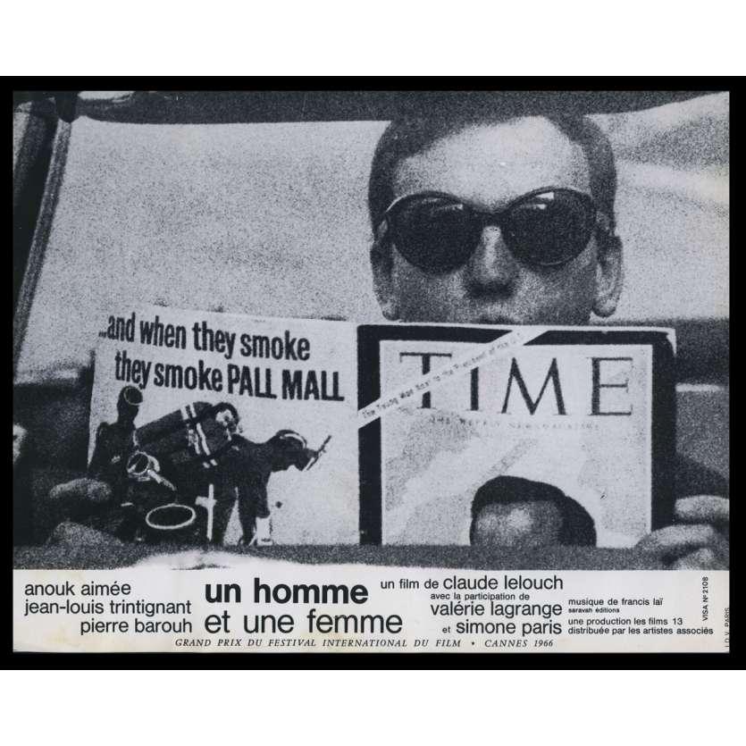 UN HOMME ET UNE FEMME Photo de film N11 21x30 - 1966 - Anouk Aymée, Claude Lelouch