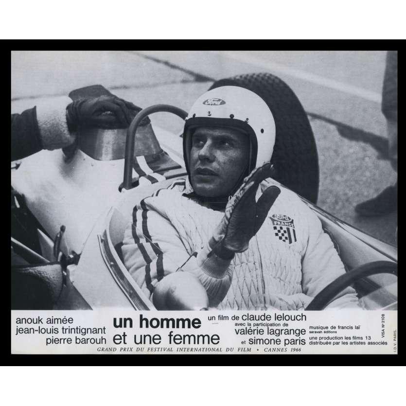 UN HOMME ET UNE FEMME Photo de film N9 21x30 - 1966 - Anouk Aymée, Claude Lelouch