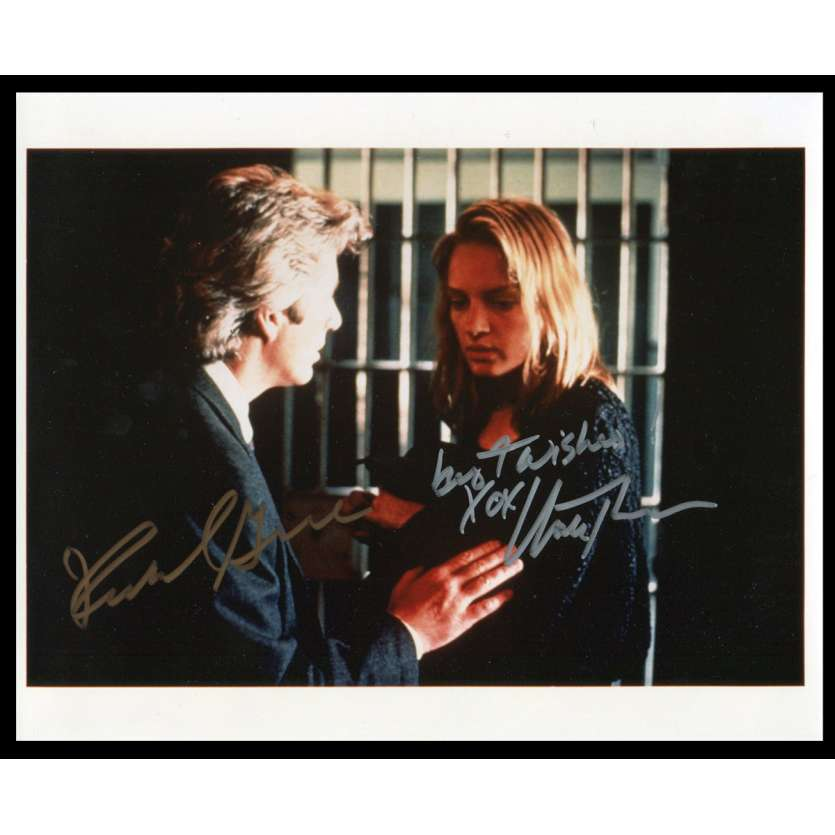 UMA THURMAN - RICHARD GERE Photo Signée 20x25 - 1990's - ,