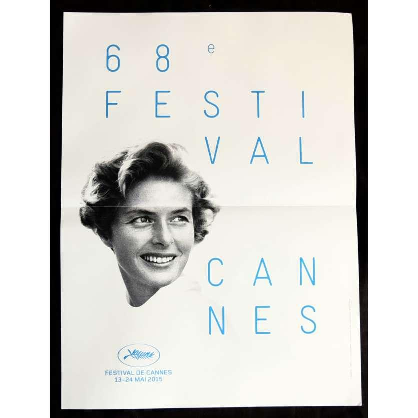 FESTIVAL DE CANNES 2015 Original Movie Poster, 15x21 Ingrid Bergman, Folded