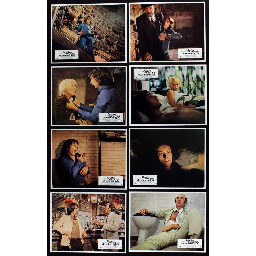 FOUR FLIES French Lobby cards x13 9x12 - 1971 - Dario Argento, Jean-Pierre Marielle