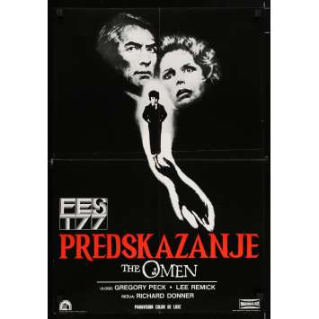 THE OMEN Yougoslavian Movie Poster 20x28 - 1979 - Richard Donner, Gregory Peck