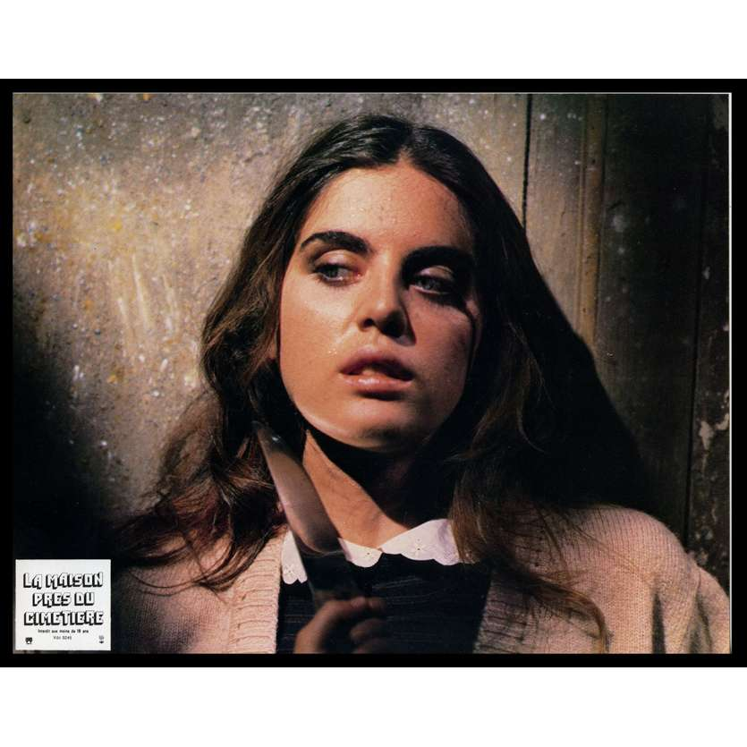 HOUSE BY THE CEMETARY French Lobby Card N4 9x12 - 1981 - Lucio Fulci, Catriona McColl