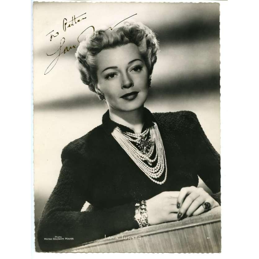 LANA TURNER Photo DeLuxe signée 18x24 - 1944 - ,