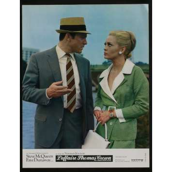 THOMAS CROWN AFFAIR French Lobby card N10 9x12 - 1968 - Norman Jewison, Steve McQueen