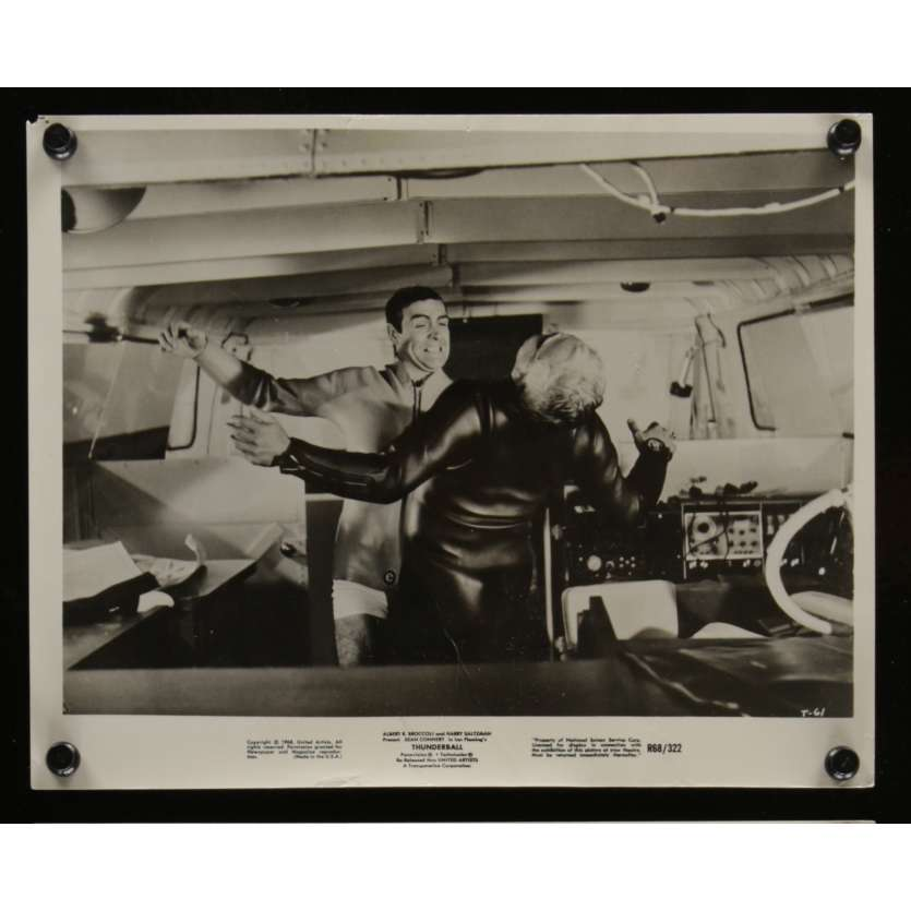 OPERATION TONNERRE Photo de presse N1 20x25 - R1968 - Sean Connery, James Bond