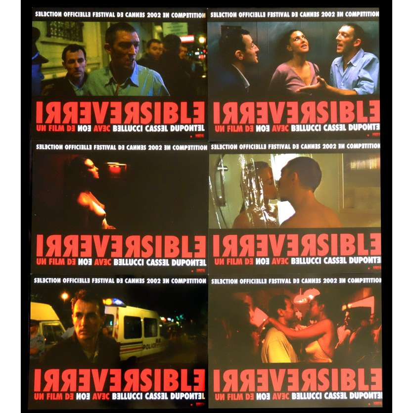 IRREVERSIBLE French Lobby Cards 9x12 - 2002 - Gaspard Noe, Monica Bellucci