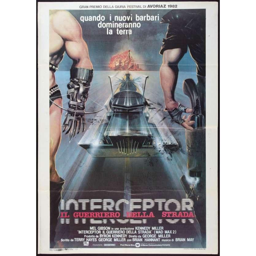 MAD MAX 2 Mel Gibson Affiche du film IT 1982