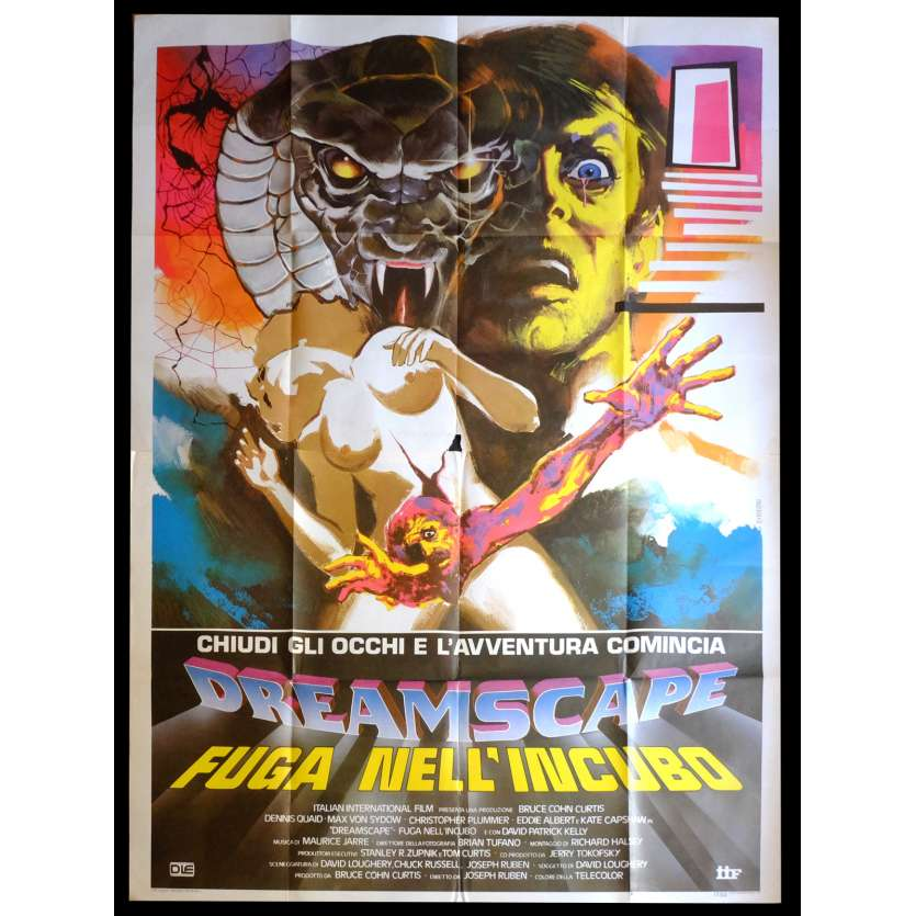 DREAMSCAPE Italian Movie Poster 55x71 - 1984 - Joseph Ruben, Dennis Quaid
