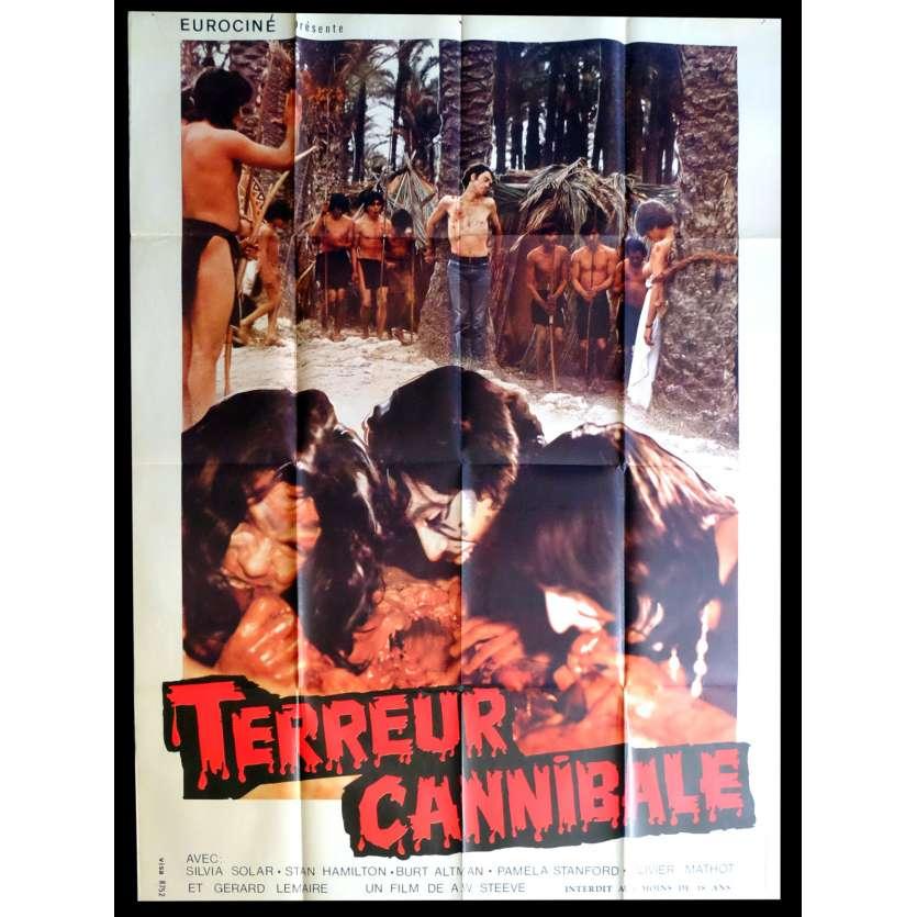 CANNIBAL TERROR French Movie Poster 47x63 - 1980 - Alain Deruelle, Sylvia Solar