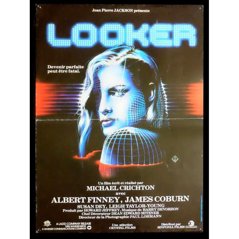 LOOKER Affiche de film 40x60 - 1981 - Albert Finney, Michael Crichton