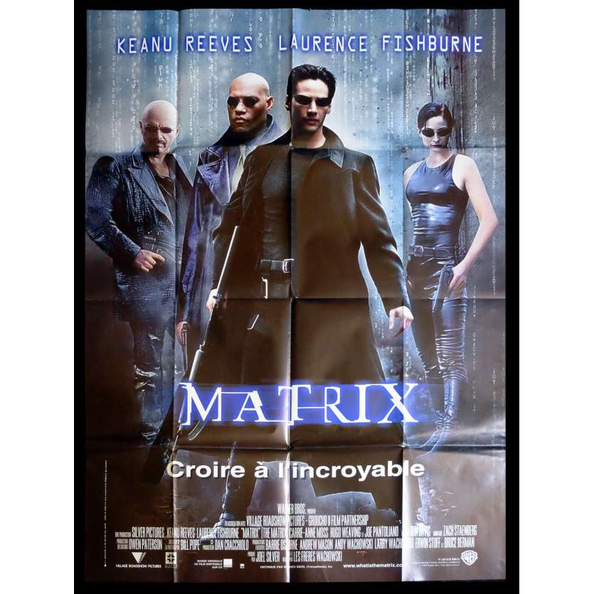 THE MATRIX French Movie Poster 47x63 - 1999 - Wachowsky bros, Keanu Reeves
