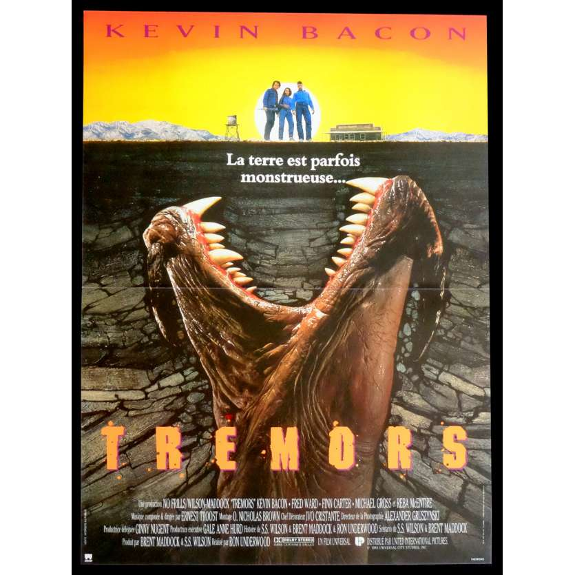 TREMORS French Movie Poster 15x21 - 1990 - Ron Underwood, Kevin Bacon