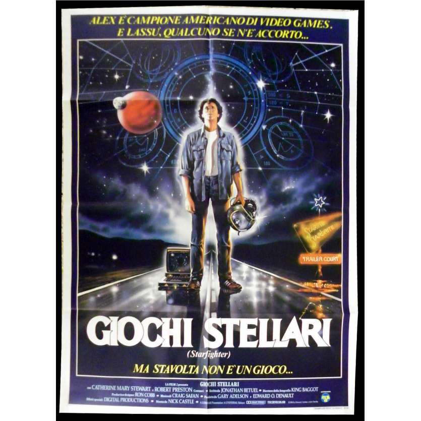 THE LAST STARFIGHTER Italian Movie Poster 39x55 - 1985 - , Lance Guest