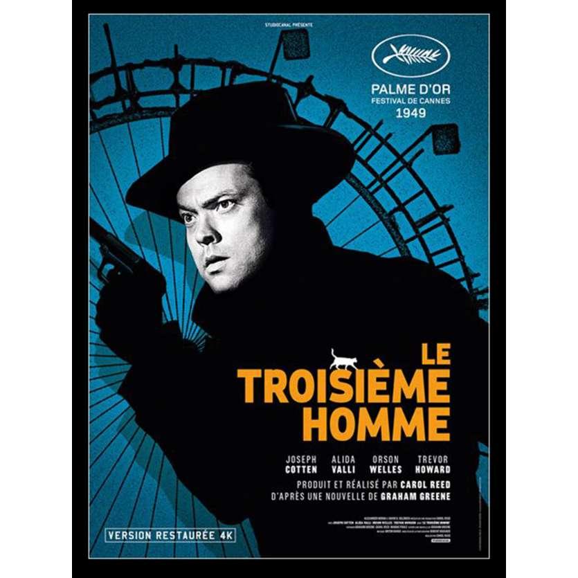 LE TROISIEME HOMME Affiche de film 40x60 - R2015 - Joseph Cotten, Orson Welles