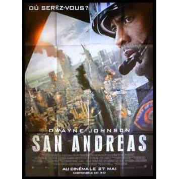 SAN ANDREAS French Movie Poster 47x63 - 2015 - Brad Peyton, Dwayne Johnson