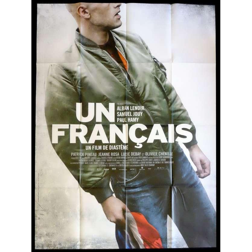 UN FRANÇAIS Affiche de film 120x160 - 2015 - Alban Lenoir, Diasteme