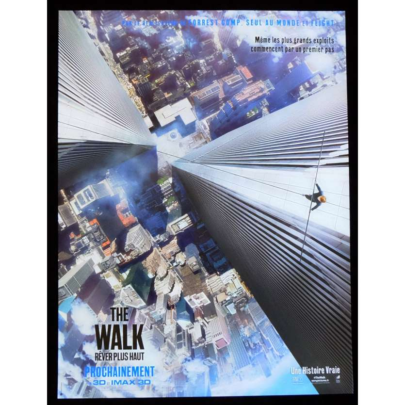 THE WALK French Movie Poster Twin Towers 15x21 - 2015 - Robert Zemeckis, Joseph Gorgon-Levitt