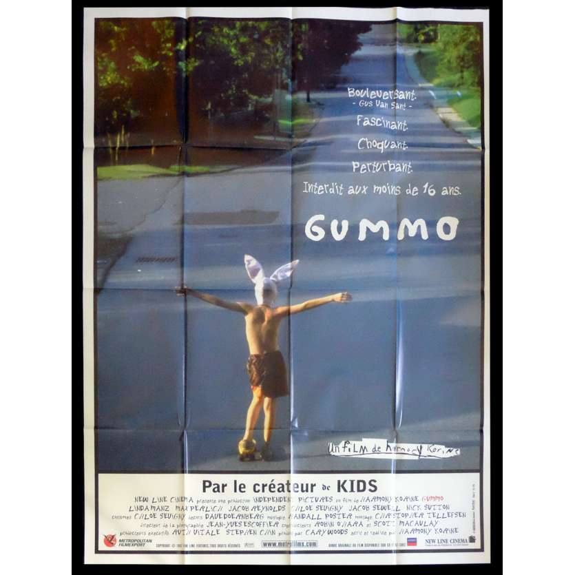 GUMMO French Movie Poster 47x63 - 1997 - Harmony Korine, Nick Sutton
