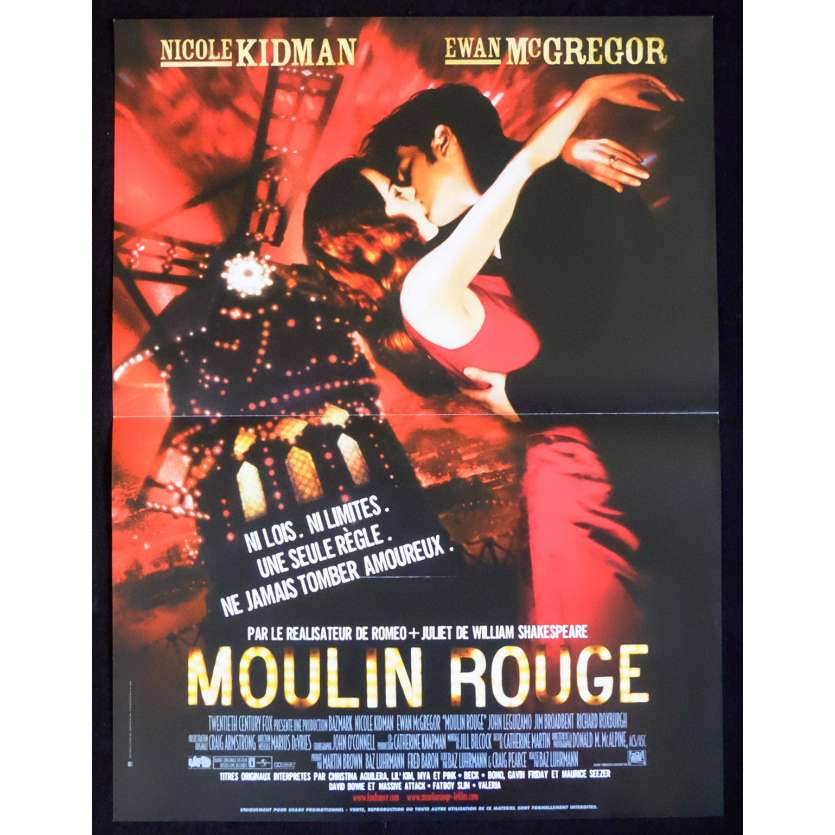 MOULIN ROUGE French Movie Poster 15x21 - 2001 - Baz Luhrmann, Nicole Kidman
