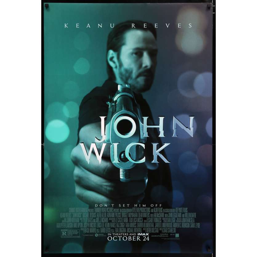 JOHN WICK Affiche de film 69x104 - 2014 - Keanu Reeves, David Leitch