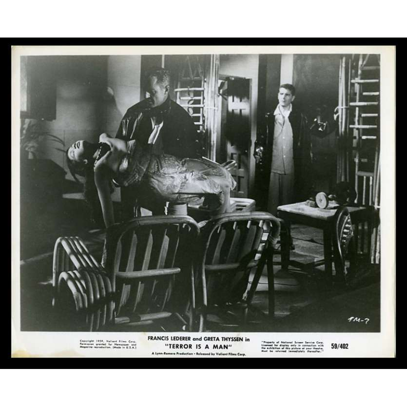 TERROR IS A MAN Photo de presse 20x25 - 1959 - Francis Lederer, Gerardo de Leon
