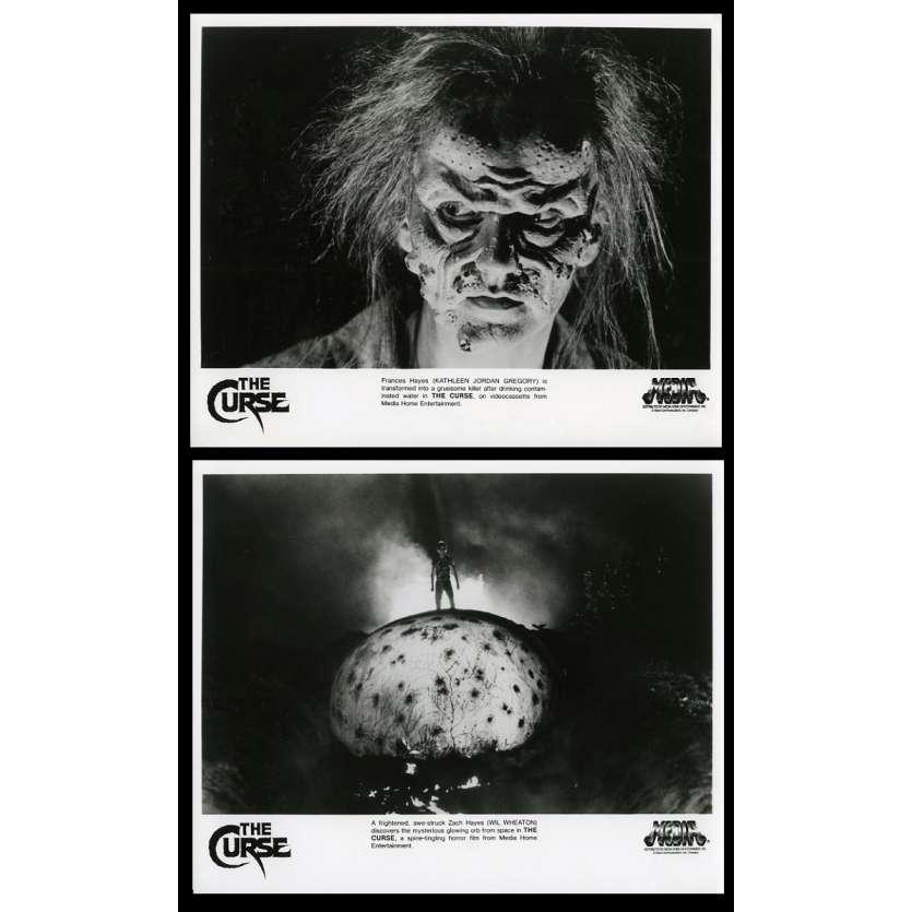 LA MALEDICTION CELESTE Photos de presse x2 20x25 - 1987 - Will Wheaton, David Keith