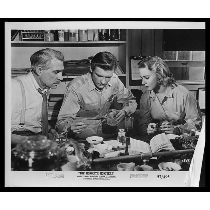 LA CITE PETRIFIEE Photo de presse 20x25 - 1957 - Grant Williams, John Sherwwod