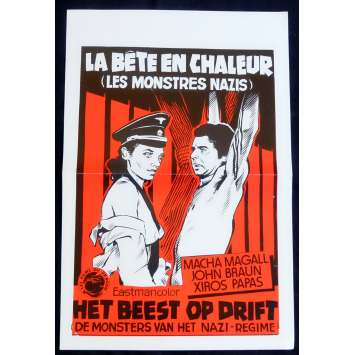 THE BEAST IN HEAT Belgian Movie Poster 16x21 - 1977 - Luigi Batzella, Macha Magall