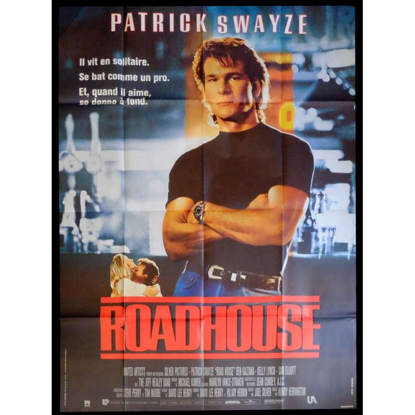 ROADHOUSE Affiche de film 120x160 - 1989 - Patrick Swayze,
