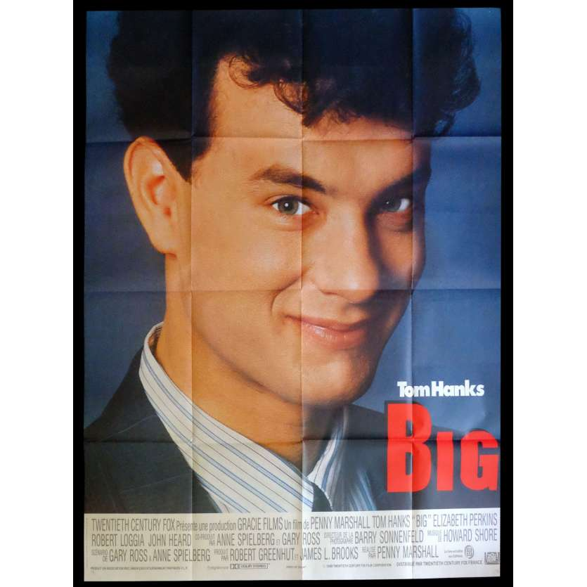 BIG French Movie Poster 47x63 - 1988 - Penny Marshall, Tom Hanks